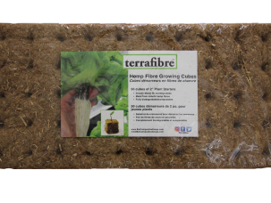 Terrafibre Hemp Cube Grow Medium 2 in
