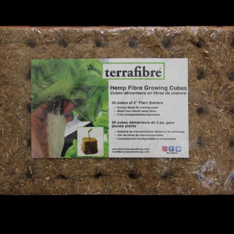 Terrafibre Hemp Cube Grow Medium 2 in