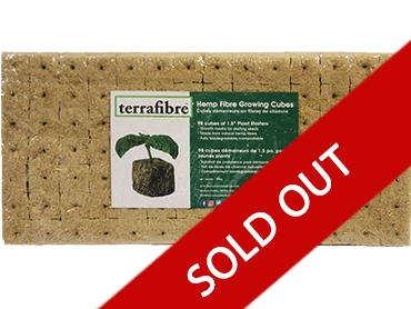 Hemp Grow Cube Product 1.5 INCH Sold Out